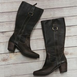 Fossil Heeled Brown Leather Boots